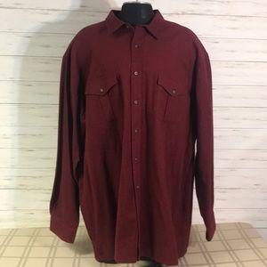 New St John's Bay Flannel Shirt Size 3XLT Tall Big
